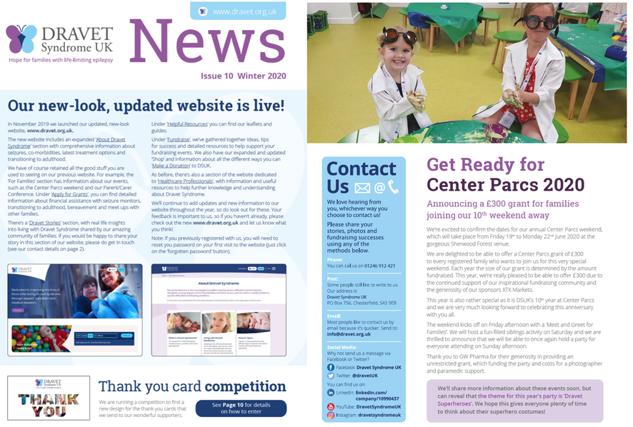 Dravet Syndrome UK Winter 2020 Newsletter
